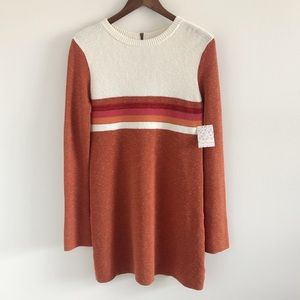 NWT Free People Colorblock Swit Mini Dress Small